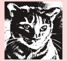 Cool Cat Graphic in Black and White Kids Clothes