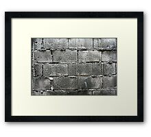 Hollow blocks wall Framed Print