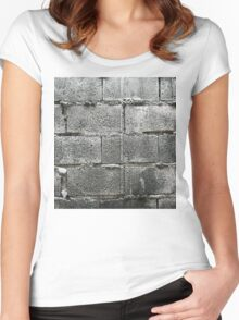Hollow blocks wall Women's Fitted Scoop T-Shirt