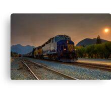 Rocky Mountaineer Sunrise Canvas Print