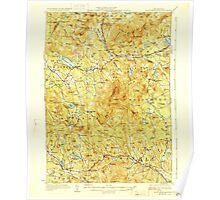 USGS TOPO Map New Hampshire NH Mount Kearsarge 330200 1928 62500 Poster
