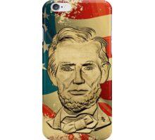 Abe Lincoln Grunge iPhone Case/Skin