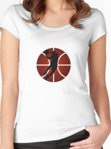 Slam-dunk Contest Women's Fitted Scoop T-Shirt