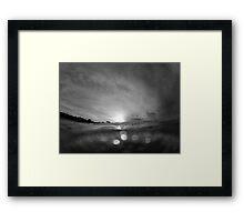 Below the Surface- B&W Framed Print