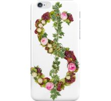 US Dollar Symbol Part of a set of letters, Numbers and symbols of the Alphabet made with flowers iPhone Case/Skin