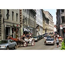 Old Montreal Traffic Jam Photographic Print