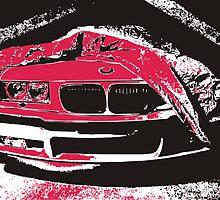 BMW E36 pop-art by GKuzmanov