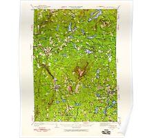 USGS TOPO Map New Hampshire NH Monadnock 330177 1949 62500 Poster