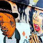 Melbourne Graffiti Street Art - Jazz couple by NicNik Designs