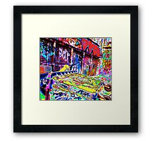 Melbourne Graffiti Street Art Rubbish Bin Framed Print