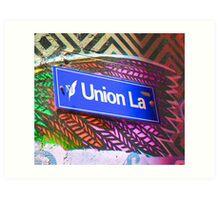 Union Lane - Graffiti - Street Art Art Print