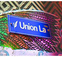 Union Lane - Graffiti - Street Art Photographic Print