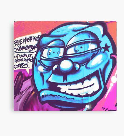 Blue Face Man - Graffiti - Street Art Canvas Print