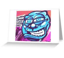 Blue Face Man - Graffiti - Street Art Greeting Card