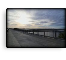October Walkway Sunrise Canvas Print