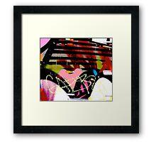 Graffiti heart - Graffiti - Street Art Framed Print