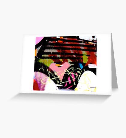 Graffiti heart - Graffiti - Street Art Greeting Card