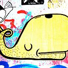 Melbourne Graffiti Street Art - Yellow Whale by NicNik Designs