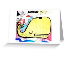 Melbourne Graffiti Street Art - Yellow Whale Greeting Card