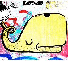 Melbourne Graffiti Street Art - Yellow Whale Photographic Print