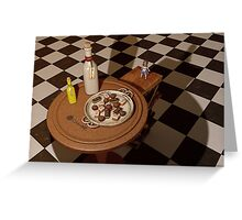 Alice in Wonderland - A Curious Hall Redux Greeting Card