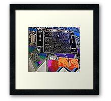 Pac Man graffiti lane map - Graffiti - Street Art Framed Print
