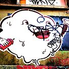 Cloudy blob - Graffiti - Street Art by NicNik Designs