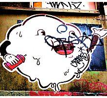 Cloudy blob - Graffiti - Street Art Photographic Print
