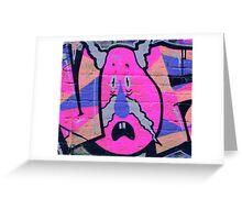 Crazy Moustache Man - Graffiti - Street Art Greeting Card