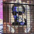 Melbourne Graffiti Street Art - Bono behind bars by NicNik Designs