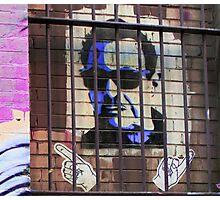 Melbourne Graffiti Street Art - Bono behind bars Photographic Print
