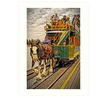 The Horses Are On The Track Art Print