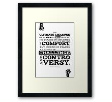 Macho Typographic Quote #1 Framed Print