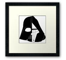 Darth Vader & Revan Framed Print