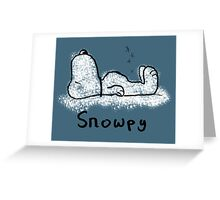 Snowpy Greeting Card