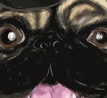 Pug in a top hat Sticker