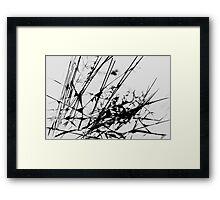 Strike Out Black and White Abstract Framed Print
