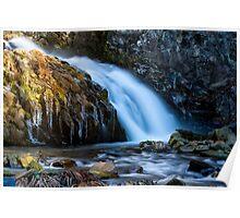 Waterfalls in Winter 01 Poster