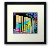 Melbourne Graffiti Street Art - Girl in Jail Framed Print