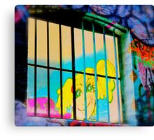 Melbourne Graffiti Street Art - Girl in Jail Canvas Print