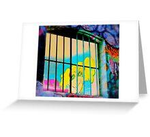 Melbourne Graffiti Street Art - Girl in Jail Greeting Card