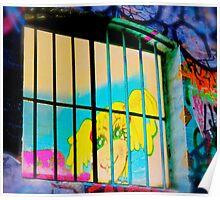 Melbourne Graffiti Street Art - Girl in Jail Poster
