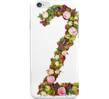 The number Two Part of a set of letters, Numbers and symbols of the Alphabet made with flowers iPhone Case/Skin