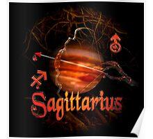 Sagittarius gothic zodiac astrology by Valxart Poster