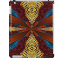 Abstract Blue Red Orange And Yellow Design iPad Case/Skin