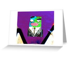 Square Man - Graffiti - Street Art Greeting Card