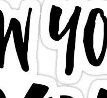 London, New York, Paris - Script Typography Sticker