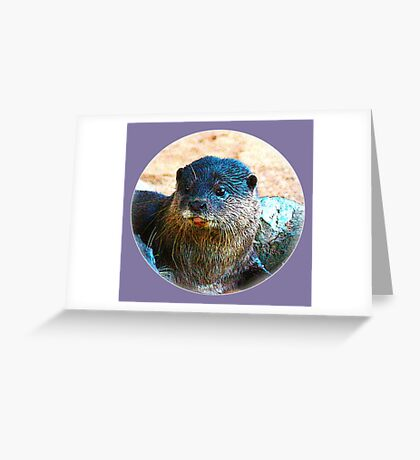 Cute Little Otter Face Greeting Card