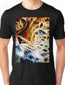 Fractal Cheetah Face Design By Chris McCabe - DRAGAN GRAFIX Unisex T-Shirt