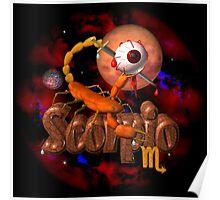 Scorpio gothic zodiac astrology by Valxart Poster